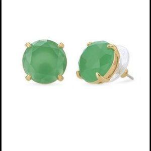 Stella & Dot Janice Green Stone Studs